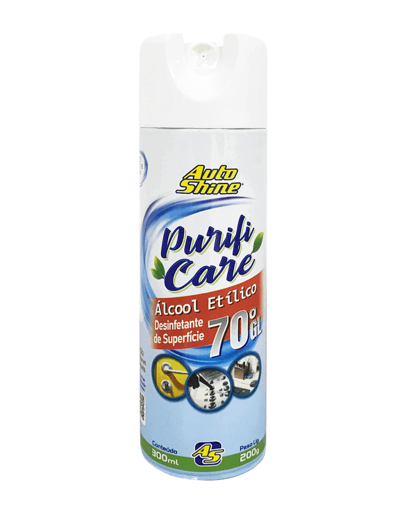 Alcool 70 Spray Higienizador de Superficies - Autoshine